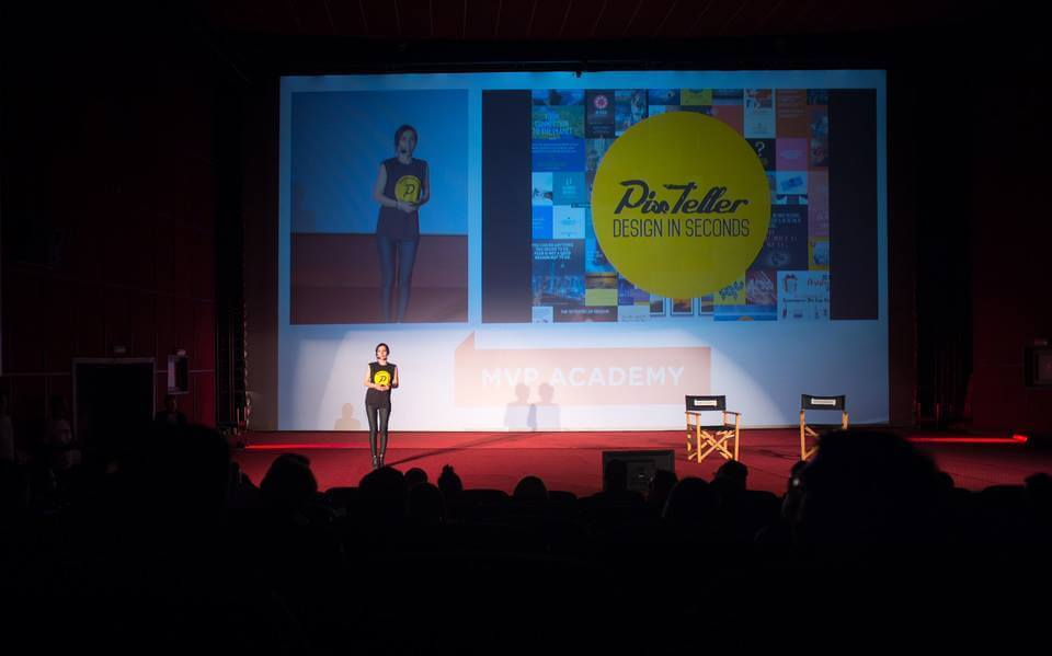 Silvia pitching for PixTeller