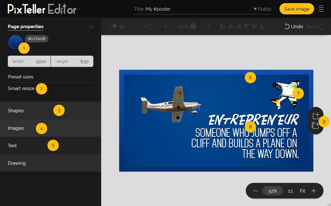 PixTeller Editor details