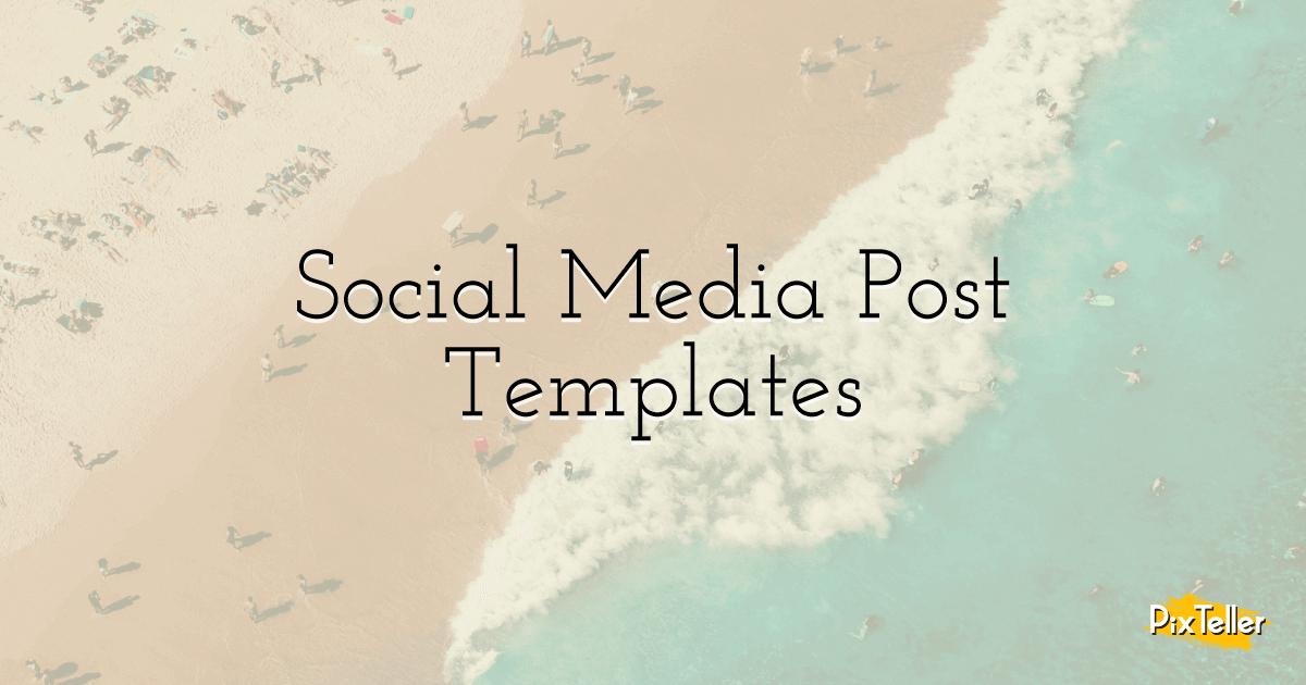 custom social media post templates