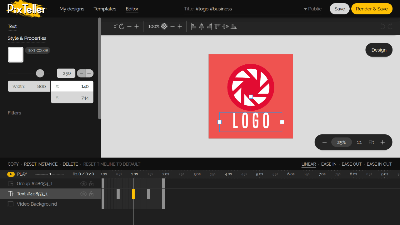 Logo Animation Software Screenshot