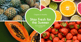 Organic and Healthy Card Example