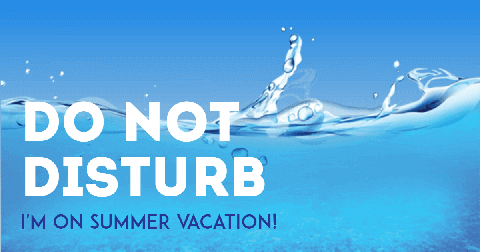 I'm on Summer Vacation Card Example
