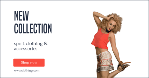 Clothing and Accessories Facebook Ad Banner Layout