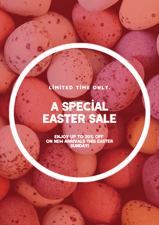 Easter Flyer Template - Special Sale Discount