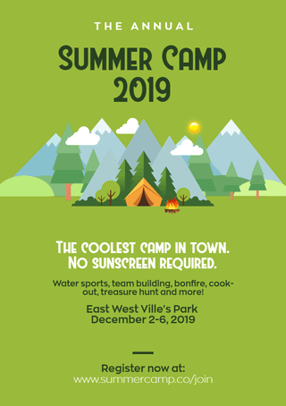 Summer Camp Event Template Free to Use