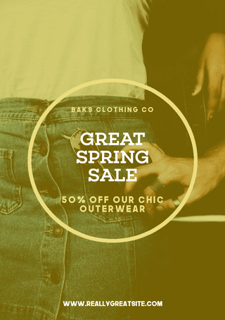 Editable Great Spring Sale Flyer Template