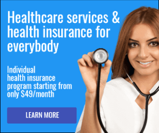 Health Program Large Rectangle Banner Example for Google Ads Display Campaign
