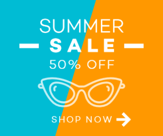 Summer Sale Discount Large Rectangle Banner Example