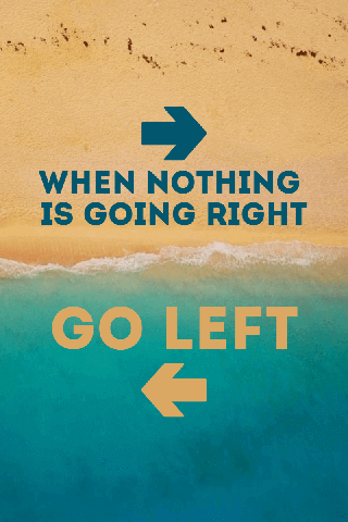 Going Left or Right Beautiful Poster Example