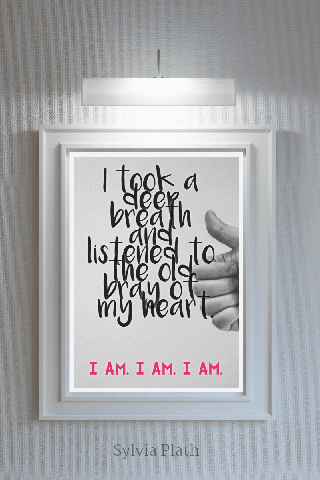 Inspiration Image Frame with Text Poster Example