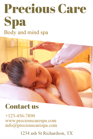 Body and Mind Spa Poster Example