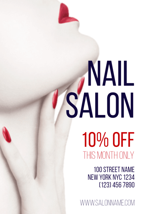 Nail Salon Poster Example