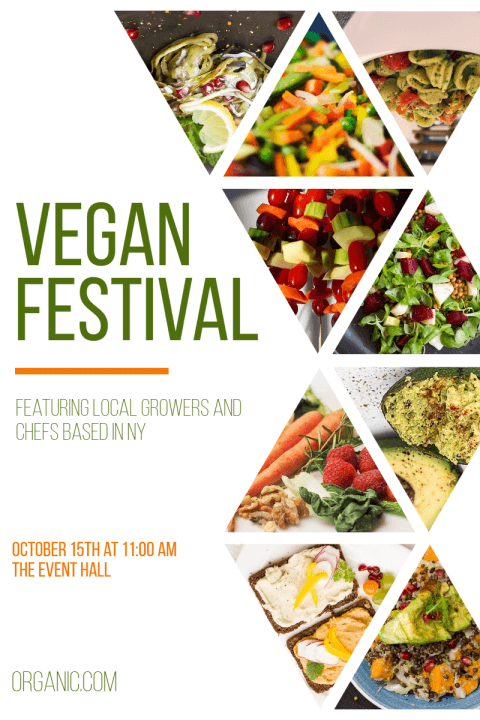 Vegan Food Festival Poster Example