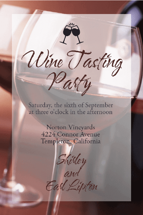 Wine Tasting Party Poster Invitation Easy to Use and Customize