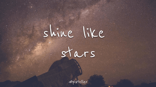 Shine Like Stars Editable Wallpaper Layout