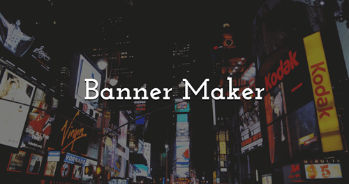 Make your own Banners