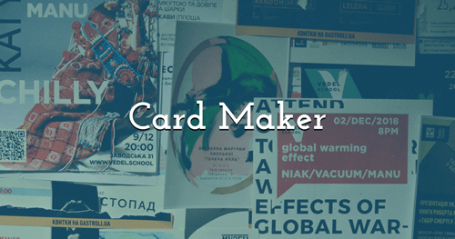 Make your own Cards