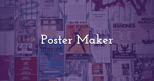 Make your own Posters